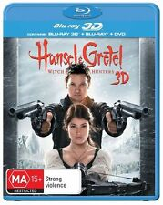 Hansel & Gretel - Witch Hunters 3D+2D Blu Ray New/Sealed Region B    and
