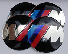 BMW M Sersies SPORT HUB CAPS BADGE EMBLEMA ADESIVI 65mm Set di 4 resina epossidica