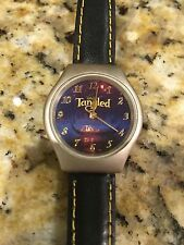 Disney's Tangled Watch with Genuine Leather Black Band