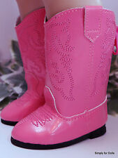 "HOT PINK Western Cowboy DOLL BOOTS SHOES fits 18"" AMERICAN GIRL Doll Clothes"