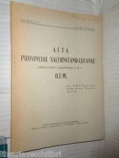 ACTA PROVINCIAE SALERNITANO LUCANAE Immaculatae Conceptionis curia frati minori