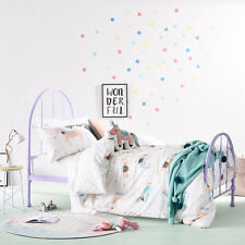 ADAIRS KIDS UNICORN PARTY REVERSIBLE DOUBLE bed QUILT DOONA DUVET COVER SET