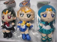 BANDAI Sailor Moon Kids Plush Dolls SET/3 dolls(Pluto Uranus Neptune)(US Seller)