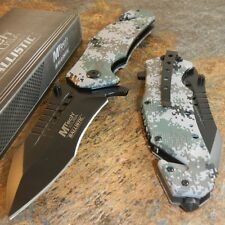 MTECH Rescue Modified Tanto Camo Spring Assisted Open Tactical Pocket Knife NEW