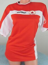 UHLSPORT Red and white CSKA 1948 sports fen soccer blouse top t-shirt  Sz S