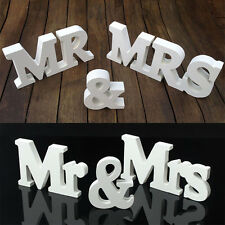 1Set Wedding Solid Wooden Letters Mr Mrs Letters Table Numbers Wood Letters Fine