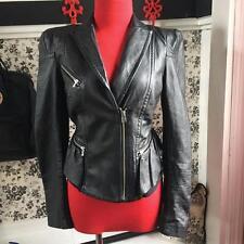 bebe Leather Jacket Ladies Size XS Beautiful Black Motorcycle Jacket