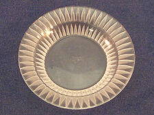 Lalique Crystal Butter Pat Dish or Salt Dip Cellar Bourgueil Pattern Small Round