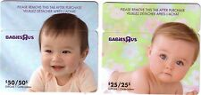 BABIESRUS MINT COLLECTIBLE GIFT CARD FROM CANADA NO VALUE BILINGUAL RELOADABLE