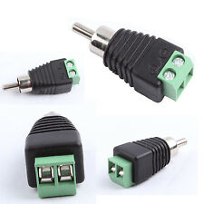 100Pcs Phono Speaker Wire cable to Audio Male RCA Connector Adapter Jack Plug