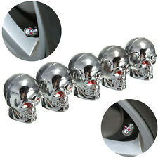 5x Eyes Evil Skull Tyre Tire Air Valve Stem Dust Caps Car Motor Truck Halloween
