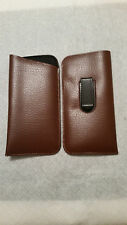Soft Eyeglass Pouch Eyewear Case with Pocket Clip In Light Brown