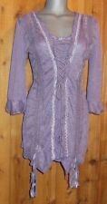 NWT PRETTY ANGEL VICTORIAN gypsy vintage RUFFLES & LACE tunic blouse SM corset M