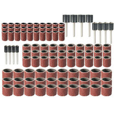 [NEW] 102pcs 80Grit Drum Sanding Kit Fit Dremel Rotary Tools with 1/2 3/8 1/4 In