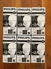 PHILIPS 453316 LED Lamp, LED, 6.5W, 120V, Soft White, A19 LOT OF 6 Lamps