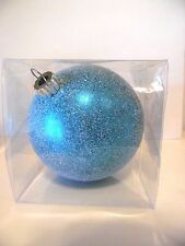 6 Inch Green-Blue Snow Covered Shatter Resistant Christmas Ornament Decoration