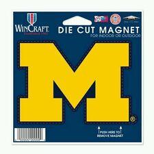 """MICHIGAN WOLVERINES VINYL DIE-CUT LOGO MAGNET 5""""×5.25"""" WEATHER RESISTANT"""