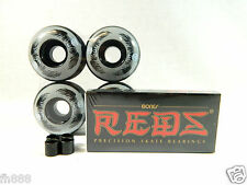 Bones Reds Bearing + Blank Pro Skateboard 52mm Graphic Color Wheels + Spacers