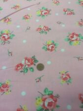 100% Cotton Quilt Fabric By Half Metre Pink Roses On Pink By Lecien Japan