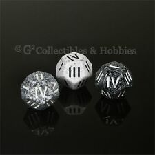 NEW Set of 3 Roman Numeral D4 12 Sided RPG Dice Arctic Urban Camo Granite Die