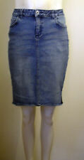 "BENCH Great little faded denim short skirt with cute side spilt size 28"" FreeP&P"