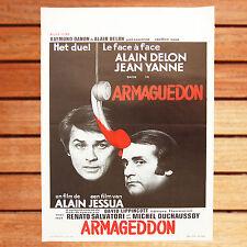 ALAIN DELON JEAN YANNE AFFICHE BELGE 35 X 55 CM BON ARMAGUEDON