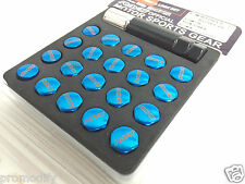 RAYS Style Blue RAYS 17 Hex Lug Nuts and Lock Set M12 1.5 Alloy wheel Nuts