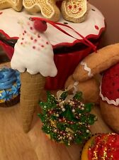 Sprinkled Ice Cream Sugar Cone Ornaments Clay Dough Candy THEME Christmas Tree