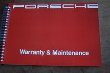 1991 Porsche 911 Owners Maintenance Book Carrera Parts Service Reprint