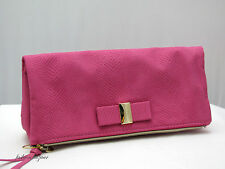 Victoria's Secret PINK FAUX SUEDE CLUTCH PURSE   NEW WITH TAG