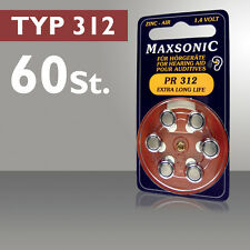 Hearing Aid Batteries 60 Piece Button Cell Battery Type 312 PR41 ZL3