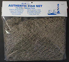 Authentic fish netting net 3 feet by 5 feet greenish color clean sturdy