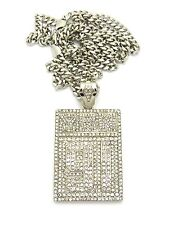 """NEW ICED OUT YRN 91 PIECE WITH 36"""" MIAMI CUBAN CHAIN."""