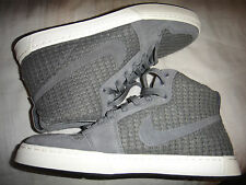 NIKE AIR ROYAL MID Knit grigio scuro formatori Taglia 8 RARE!!! 456574-002