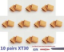 10pairs XT30 2mm Golden Connector / Plug Set for RC Quadcopter Multicopter Airp