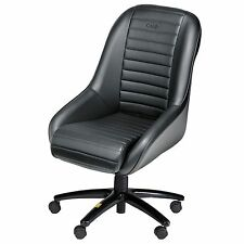OMP Silverstone Low Back Classic Synthetic Leather Office Chair / Seat