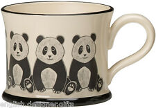 NEW Moorland Pottery Panda Bear Mug - Gift Boxed - made in England quality
