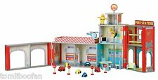 Plum Ingham Fire Station Wooden Play Set with Accessories**New**