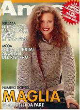 AMICA ANNO XIX N. 37 9 SETTEMBRE 1980 ITALIAN FASHION MAGAZINE MODA