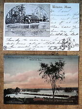 2 Webster Ma 1905-08s View from Yolande House Boat House