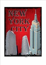 New York City Statue of Liberty  Reproduction Sign USA NYC Vintage Art Deco