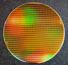 Gold Rainbow Silicon Wafer 8 inch, Iridescent Dynamic RAM