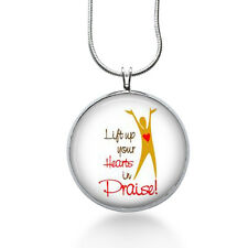 Lift Up Your Hearts in Praise Necklace - Motivational Jewelry - Pendant