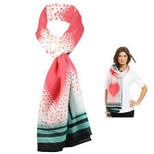 New STYLE & CO Polka Dots And Pink Hearts Oversized Wrap Women's Scarf