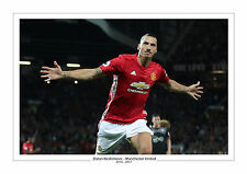 ZLATAN IBRAHIMOVIC MANCHESTER UNITED PRINT PHOTO MAN UTD A4 GIFT FOR HIM