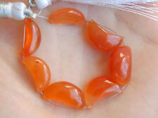 Natural Carnelian Smooth Polish Crescent Moon Gemstone Beads