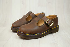 Ladies Vintage Made In England Dr Martens Brown Leather Sandals Size UK 3