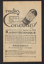 """PARIS (VIII°) RADIO-CONCOURS des SPEAKERS """"RADIOTECHNIQUE"""""""