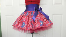 NEW HANDMADE PINK CAREBEAR TUTU MINI SKIRT TEEN DANCE RETRO UK SIZE 6 - 10 DANCE