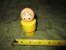 Fisher Price Little People Jumbo Figure Yellow Baby Curly hair Smile face Figure